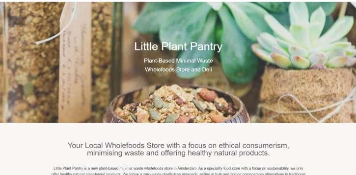 Referentie LittlePlantPantry.com Amsterdams eerste verpakkingsloze winkel.