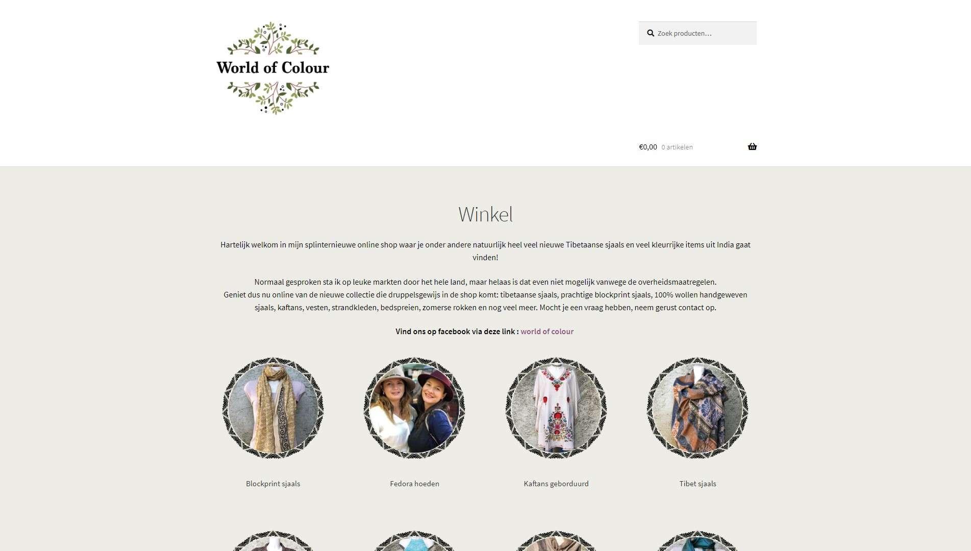 Worldofcolour.nl Tibet shawls and fashion. Referenties onlinewebshop.eu