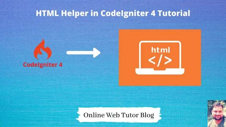 HTML-Helper-in-CodeIgniter-4-Tutorial