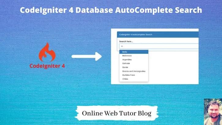 CodeIgniter 4 Database AutoComplete Search