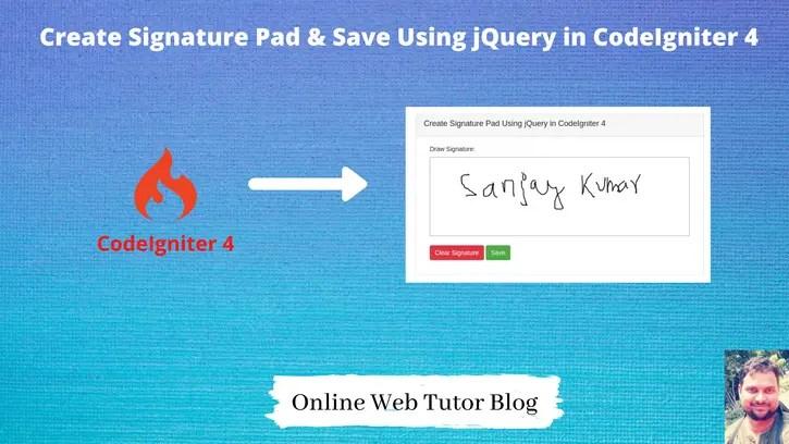 Create-Signature-Pad-Save-Using-jQuery-in-CodeIgniter-4
