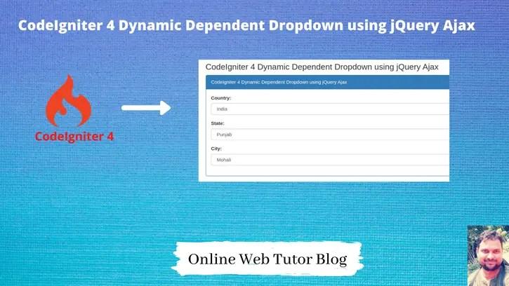 CodeIgniter-4-Dynamic-Dependent-Dropdown-using-jQuery-Ajax
