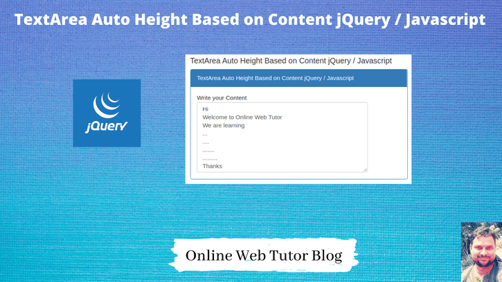 TextArea-Auto-Height-Based-on-Content-jQuery-Javascript