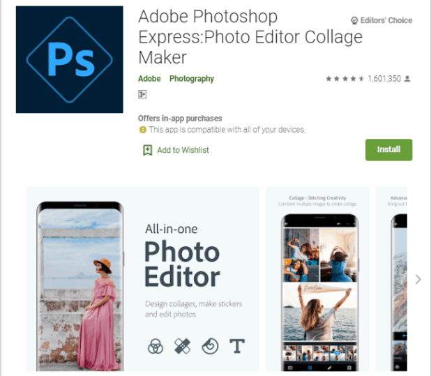 Best app for photo editing