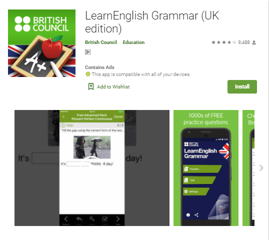 (best app for learning english).