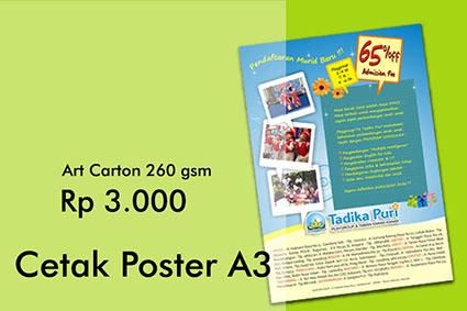 cetak poster a3