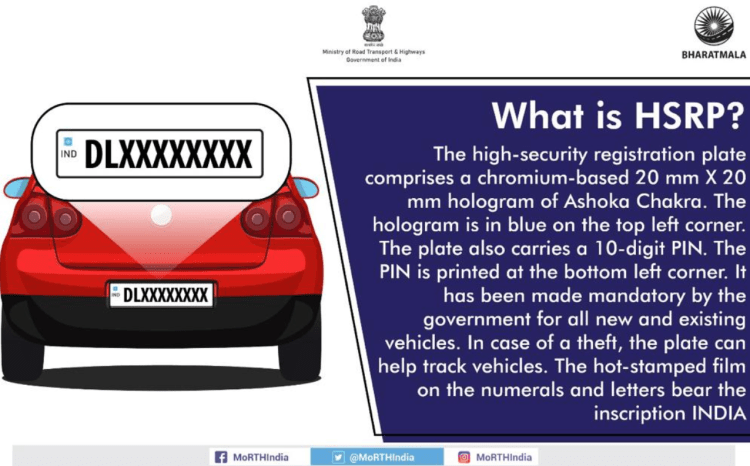 What is HSRP - high security registration plate?