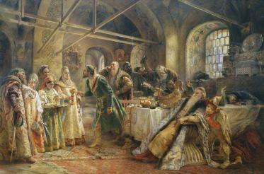 El ritual del beso 1895. Konstantin MaKovsky