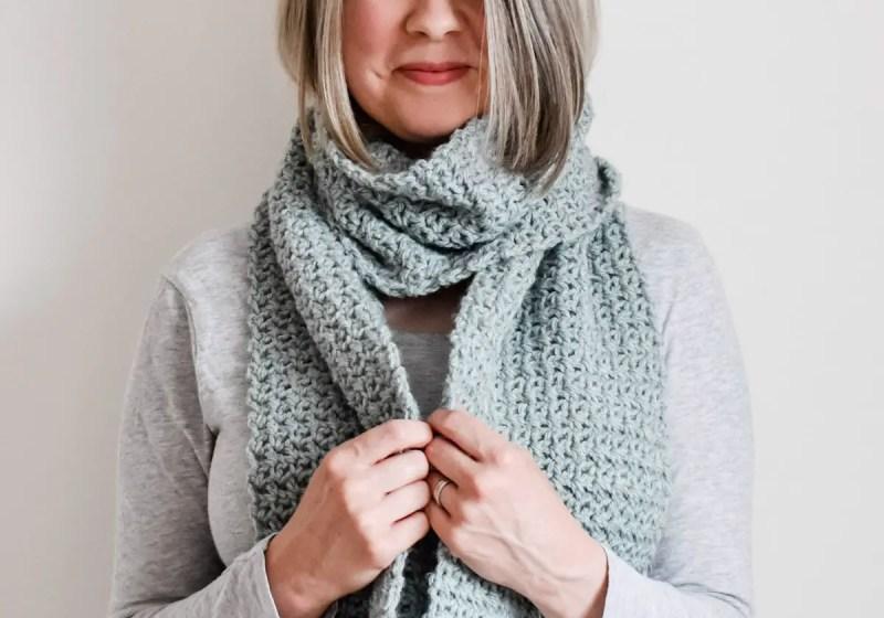 Long crochet scarf free pattern