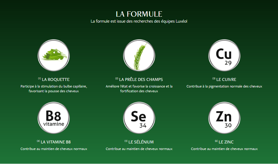 composition lux - Luxéol Pousse, croissance et fortification