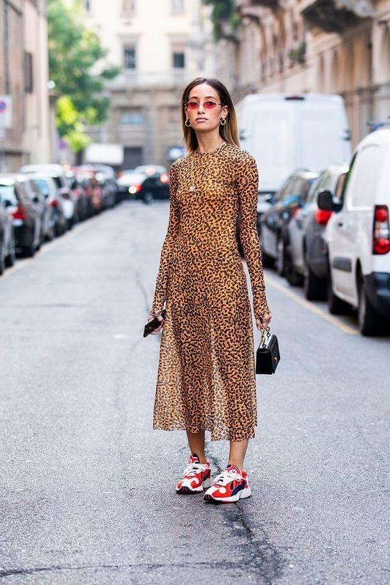 robe léopard baskets cool