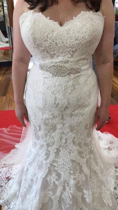 stella york wedding dress size 16