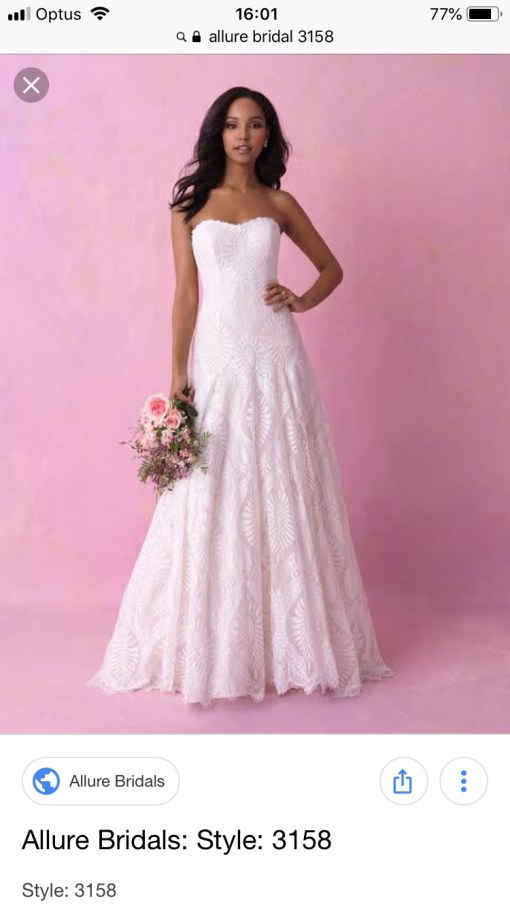 ivory allure wedding dress | hire a wedding dress