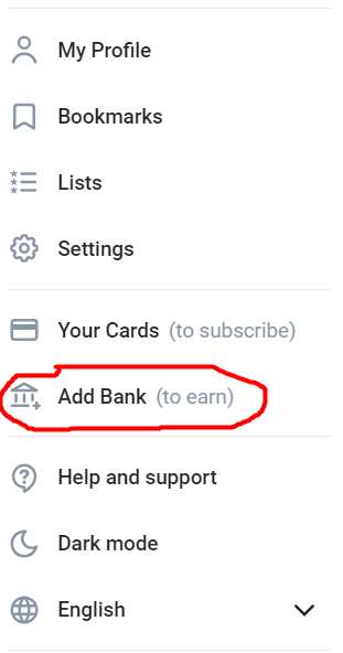 how to add a bank account to onlyfans