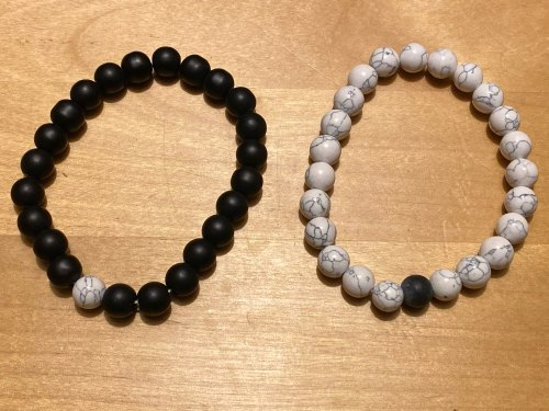Yoga Beaded Bracelet in Natural Stone 7 Style 2pcs/set photo review