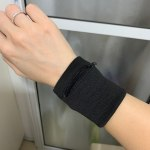 Wrist Wallet Pouch Band Zipper for running photo review