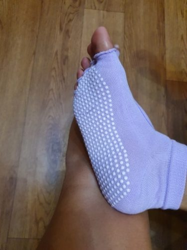 Yoga Socks Toeless Best Anti Slip Grip in 10 Colours High Quality photo review