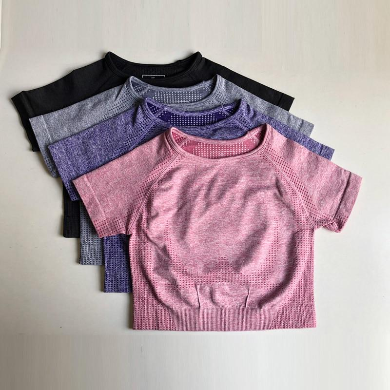 Yoga Shirts Short Sleeve - Yoga Crop Top for Women