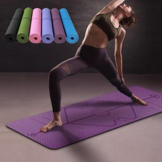 Yoga Mat with Position Lines - Yoga Mat - Only Fit Gear