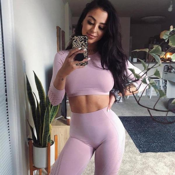 Set Leggings and Top with long sleeve for Women - Yoga Top - Only Fit Gear