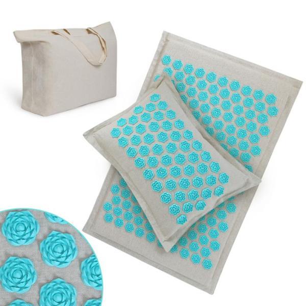 Yoga Acupressure Mat & Pillow Set Massage - Yoga Mat - Only Fit Gear