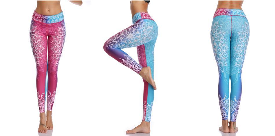 Printed Leggings Seamless for Yoga & Fitness in 4 Cool Design - 2