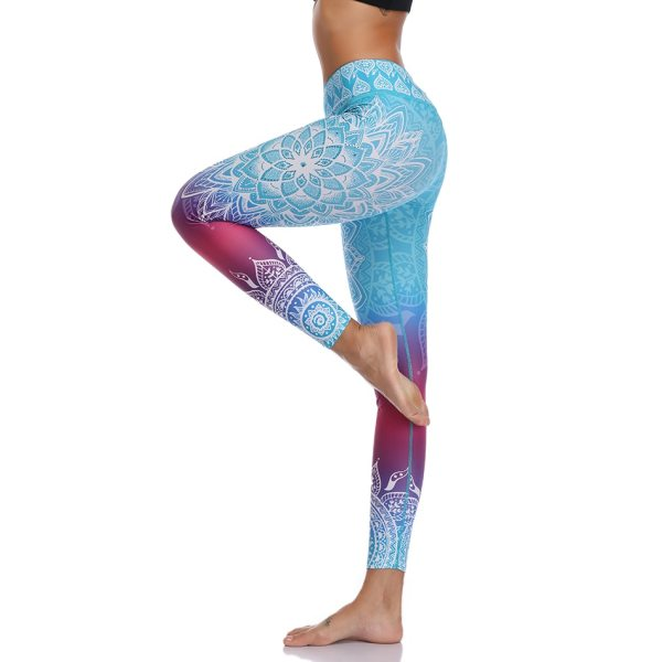 Yoga and Fitness Seamless Printed Leggings