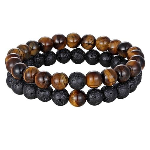 Yoga Natural Stone Beaded Bracelet for Men and Women