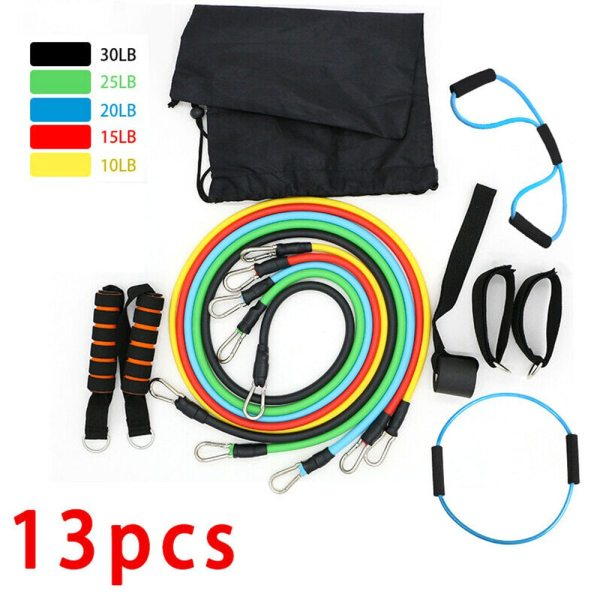 Resistance Band Set With Handle and Door Anchor (13pc)