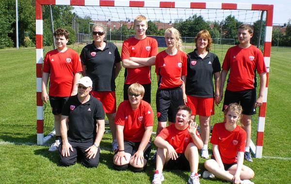 Foto Handbalteam tournooi Special Olympics