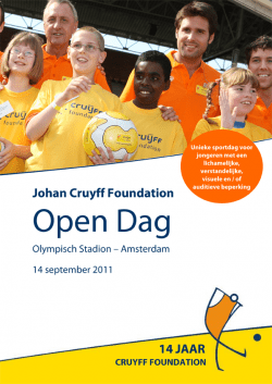 Poster Johan Cruyff Foundation Open Dag 2011