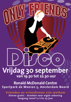 Poster Only Friends Disco