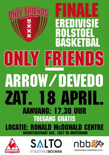 Basketbal finale 18 april DEFF