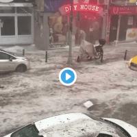 ВИДЕО: Апокалиптично невреме во Истанбул, има и повредени