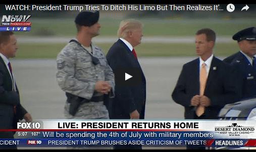 Трамп се изгуби на аеродром