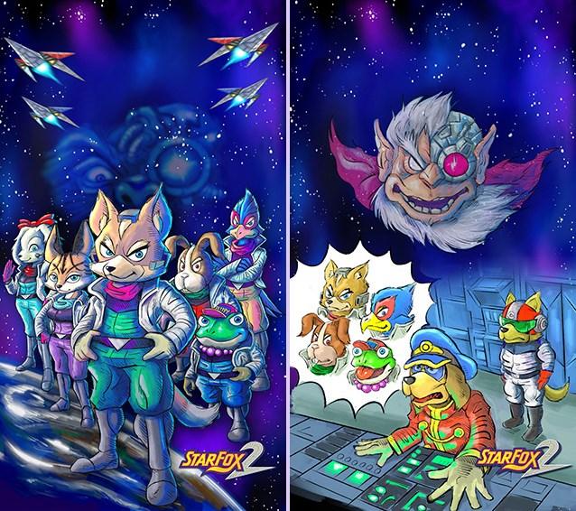 Hay una sección de juegos nunca lanzados con rarerzas. Acá, el arte de Star Fox 2 para SNES Mini.