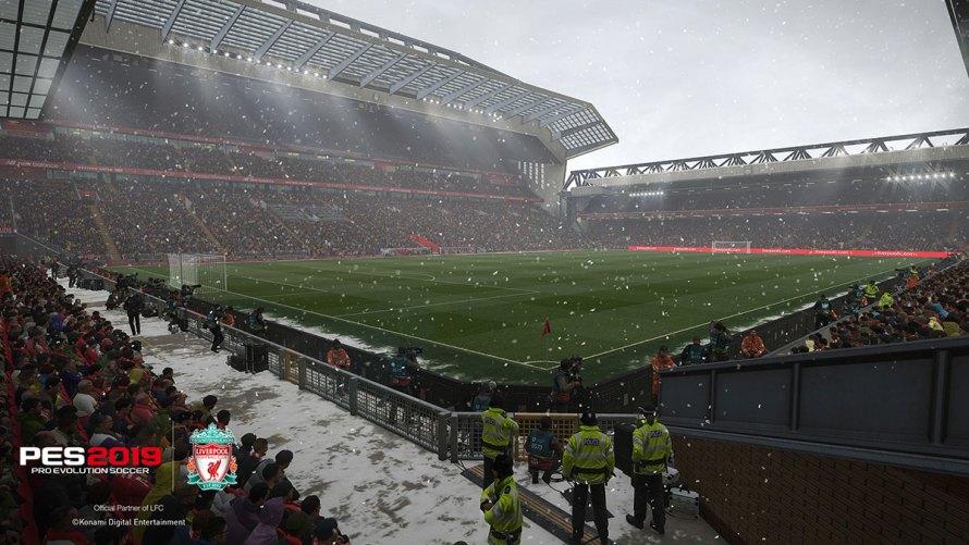 Anfield en PES 2019: el estadio se ve espectacular