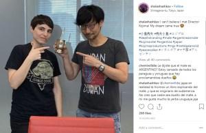 La foto junto a Hideo Kojima