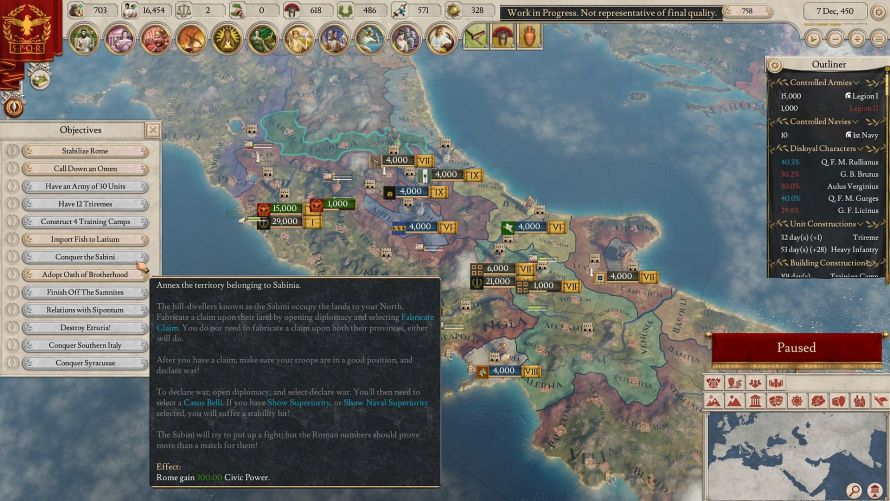 Conquista en Imperator Rome
