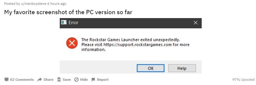 Reddit: el error de Red Dead Redemption 2