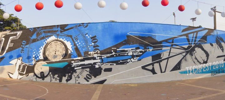 10 Mind-blowing Wall Art Pieces we saw at Techfest 2015, IIT Bombay
