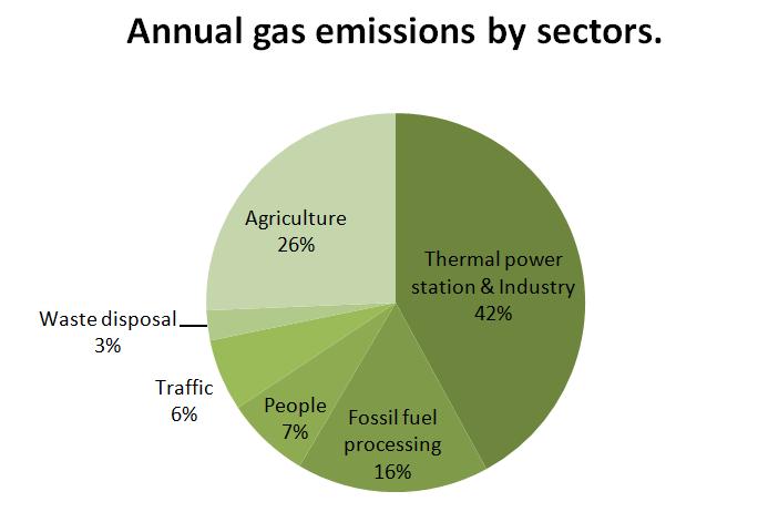 pie chart  gas emissions