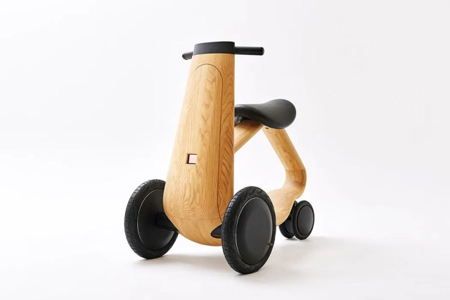 conceptual wooden electric scooter