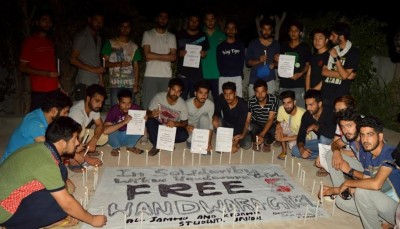 Kashmir students in Punjab held candlelight vigil in solidarity with Handwara girl