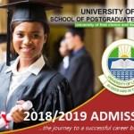 2018/2019 Unilag Postgraduate Master Sales Updates PGD