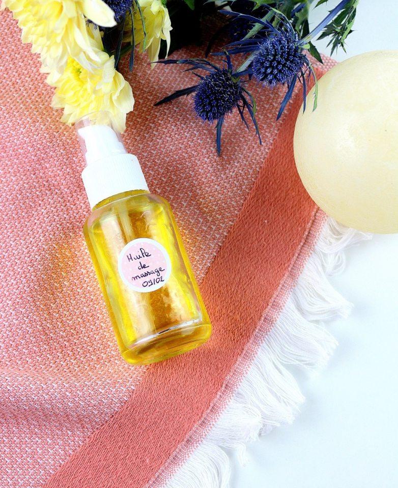 recette huile de massage - only laurie