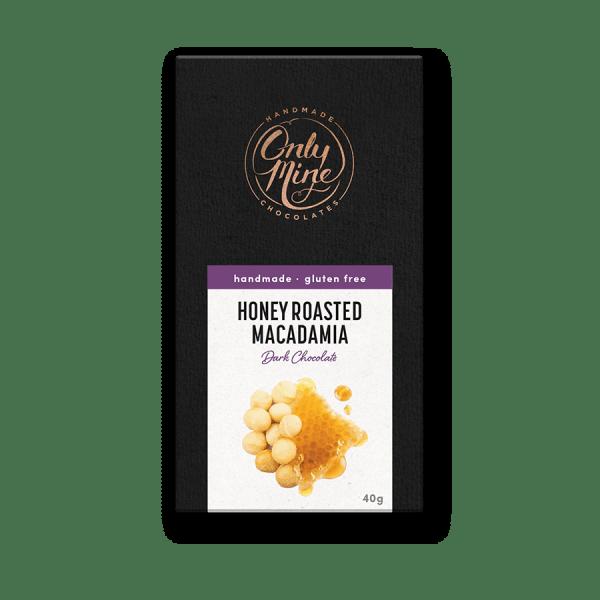 Honey Roasted Macadamia Dark Chocolate Bars