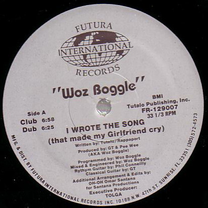 Woz Boggle – I Wrote The Song (That Made My Girlfriend Cry)