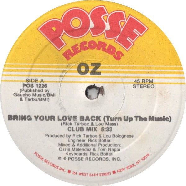 Bring Your Love Back (Turn Up The Music)
