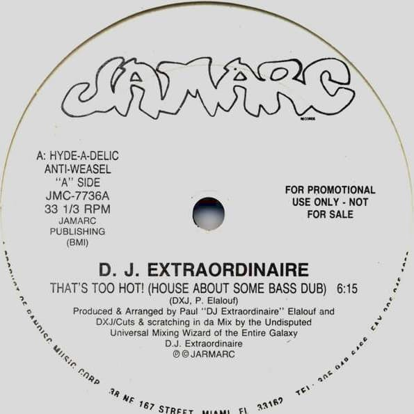 D.J. Extraordinaire ‎– That's Too Hot